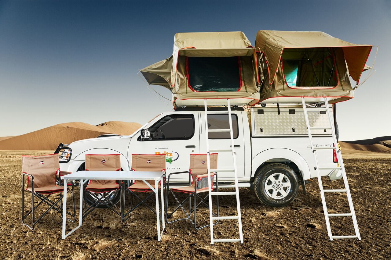 britz 4x4 double cab mit dachzelt nissan mde. Black Bedroom Furniture Sets. Home Design Ideas
